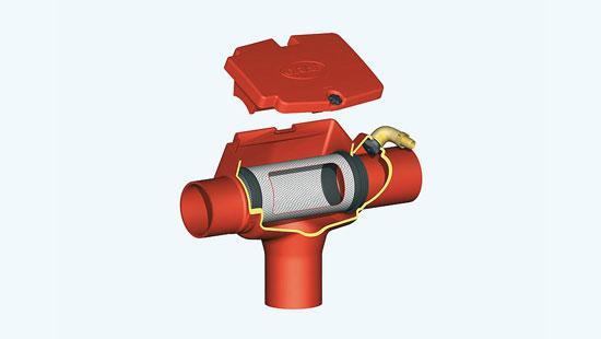 Filter Minimax notranji z ravnim odtokom